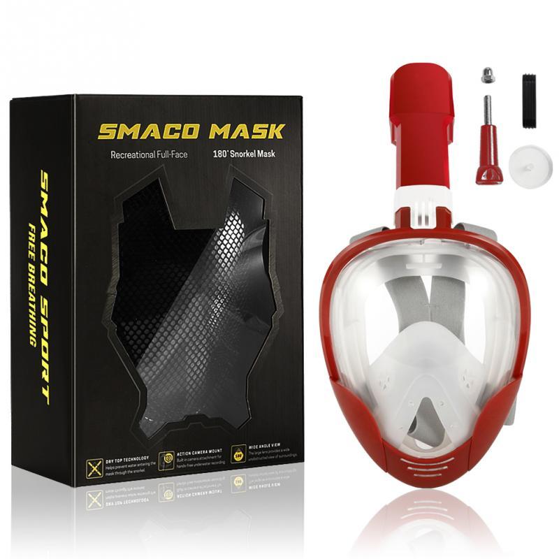 Professionnel Sous-Marine Plongée masque de plongée Plein masque de plongée en apnée M8018 pour Gopro Mouvement Caméra Pour Xiaomi Yi pour SJ4000 Nouveau - 6