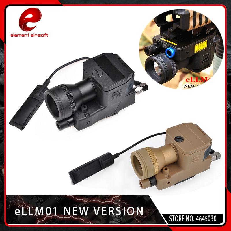 elemento airsoft ellm01 nova versao red ir laser lanterna infravermelha tatico luz led vermelho dot softair