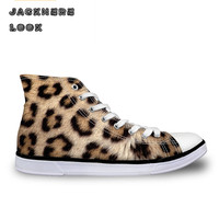 JACKHERELOOK Women Fashion Leopard Skin Printing Shoes Summer Autumn Size 35 45 Casual Daily Students Girls