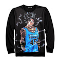 Dragon Ball Z Goku Pearl Graphic 3D Print Cool Black Sweatshirts Fashion Sweats Tops Male Hip Hop Streewear Pullovers Outfits