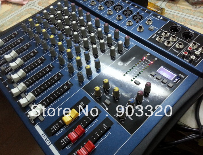 Brand Y-M-A-H-A CT-90S 8 Channels Professional DJ Audio Mixer With USB LCD Display For KTV Conference Stage Party DJ Equipemnt