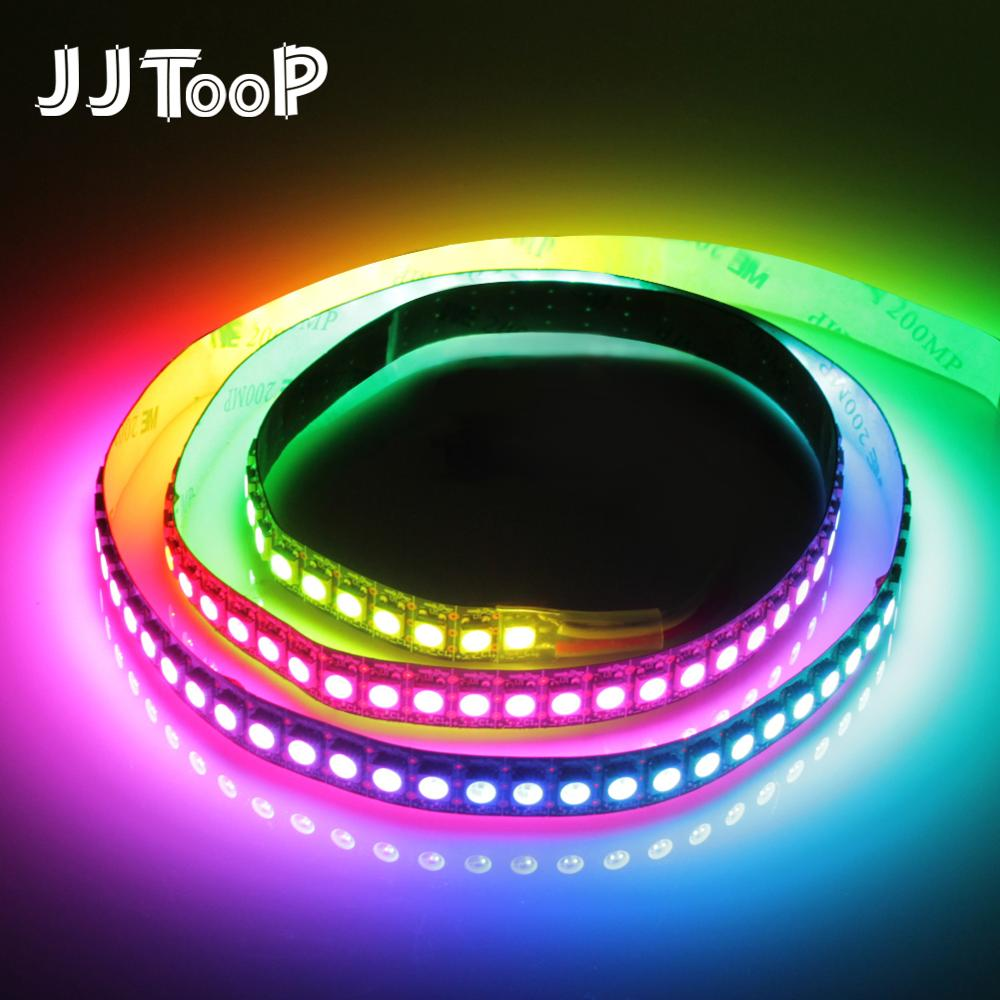 WS2812B LED Strip DC 5V Black White PCB Smart Addressable Pixel WS2812 IC 30/60/144 LEDs 17Key Bar RGB 50CM 1M 2M 3M 4M 5M