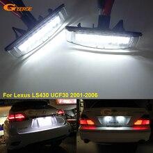 Для Lexus LS430 UCF30 2001-2006 отличный ультра яркий 3528 Светодиодный номерной знак лампы света лампа без ошибок OBC