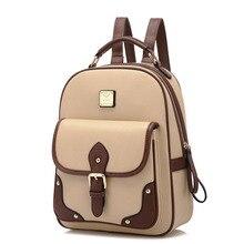 Высокое качество абсолютно новый 2016 горячих женщин лоскутное сумки рюкзак женщины PU кожаная сумка мешок школы дорожная сумка рюкзак
