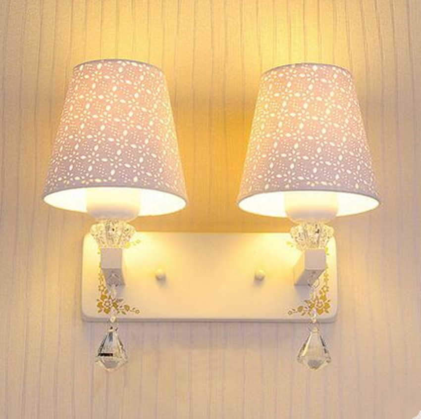 Bedroom LED crystal wall lamp simple modern warm wall lamp bedside aisle living room balcony staircase hotel lights simple wall light 12w led wall lamp bedroom bedside living room hallway stairwell balcony aisle balcony lighting ac85 265v hz64
