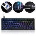 GK61 SK61 61 клавиша механическая клавиатура USB проводной светодиодный подсветкой ось игровая механическая клавиатура для настольного компьюте...