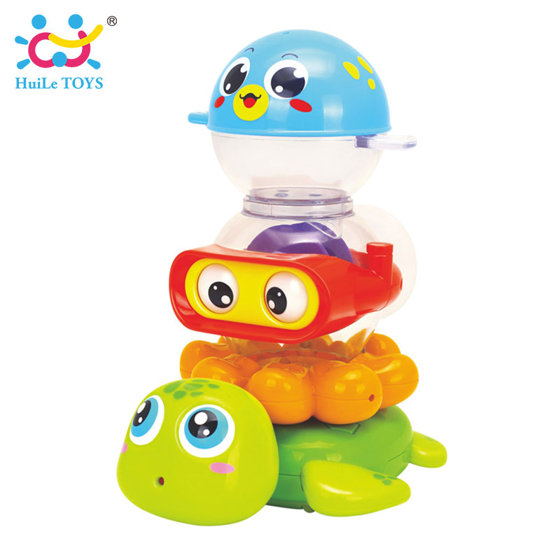 HUILE-TOYS-3112-Baby-Bath-Toy-Pool-Swimming-Toys-Animals-Stacking-Game-Children-Kids-Bathing-Tub-Water-Spraying-Tool-Toy-Gifts-3