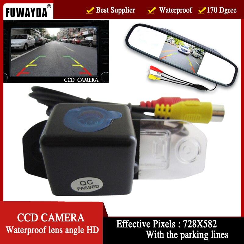 Caméra de vue arrière de voiture couleur FUWAYDA pour VOLVO S80 SL40 SL80 XC60 XC90 S40 C70, avec moniteur LCD pliable de 4.3 pouces