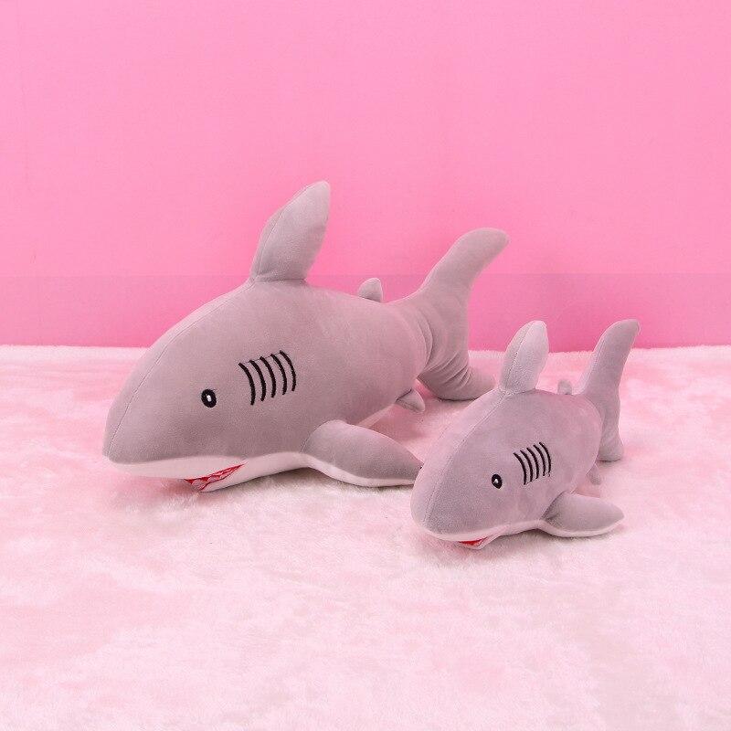 2018 New Arrival 1PC 40cm Shark Plush Toy Cute Creative Staffed Animal Doll Cushion Pillow Soft Kid Birthday Gift Blue Pink Gray