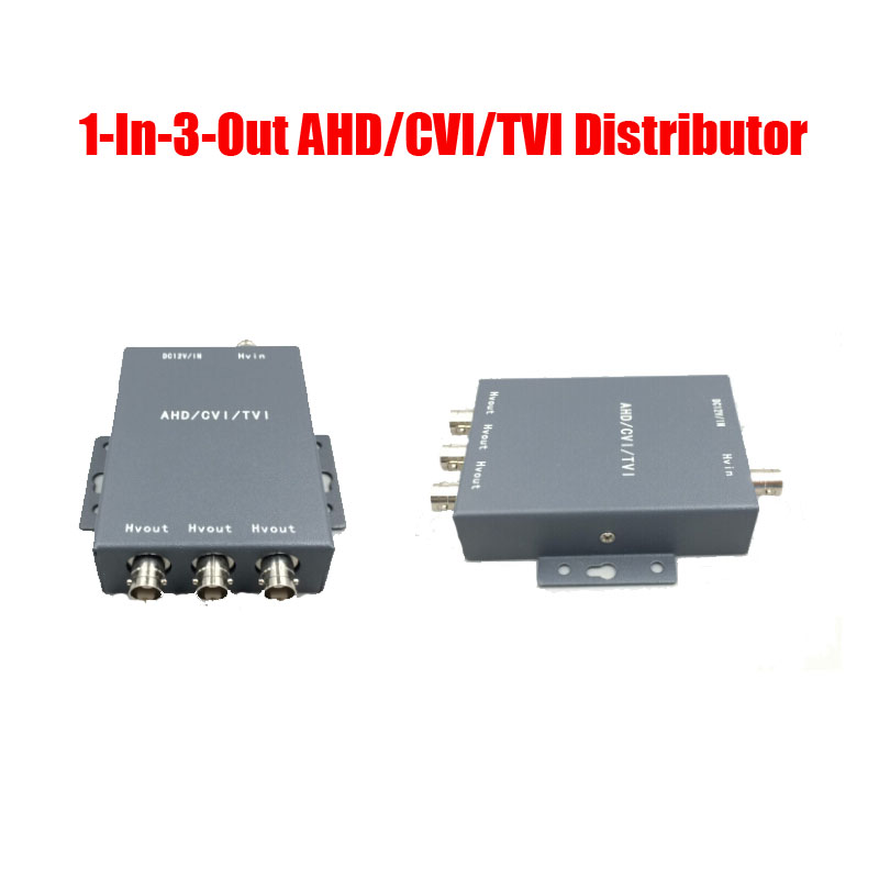 Free Shipping 720P 960P 1 In 3 Out AHD/CVI/TVI Composite BNC Video Distributor Splitter For CCTV Security Camera DVR System free shipping 4 in 8 out composite bnc video distributor for cctv security camera dvr system