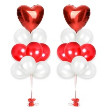 Rose Gold Love Balloon Birthday Party Decorations Wedding Event Balloons Heart-Shaped