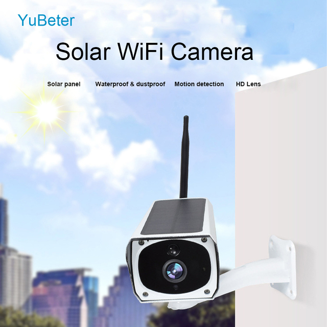 Yubeter Solar Camera Wifi Infrared Imager for Android Solar Outdoor Security Camera Wireless Webcam Road Without Battery
