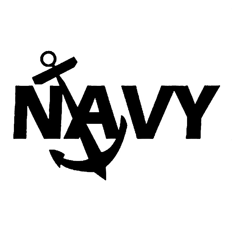 12.7cm*7.9cm us navy anchor vinyl decal beret special forces
