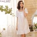 Mulheres homewear nightgowns senhoras nova chegada do vintage elegante branco bela camisola novo estilo vintage camisolas AA169