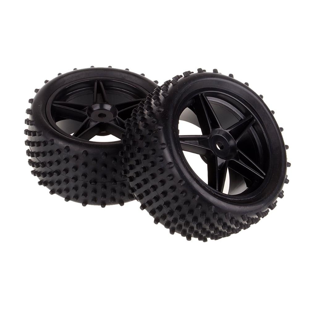 1:10 RC Off Road Buggy Rear Wheel Rim & Tyre 06026 Tires Fit HSP Himoto Redcat Racing 2pcs rc car off road buggy rear plastic wheel rims 06024 for 1 10 rc hsp redcat himoto racing