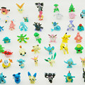 48 pcs/set Hot Toys Pokemon Action Figures Cartoon Anime pokeball Toys Mixed 2-3cm Mini Pokemon ball Figure kids Toys
