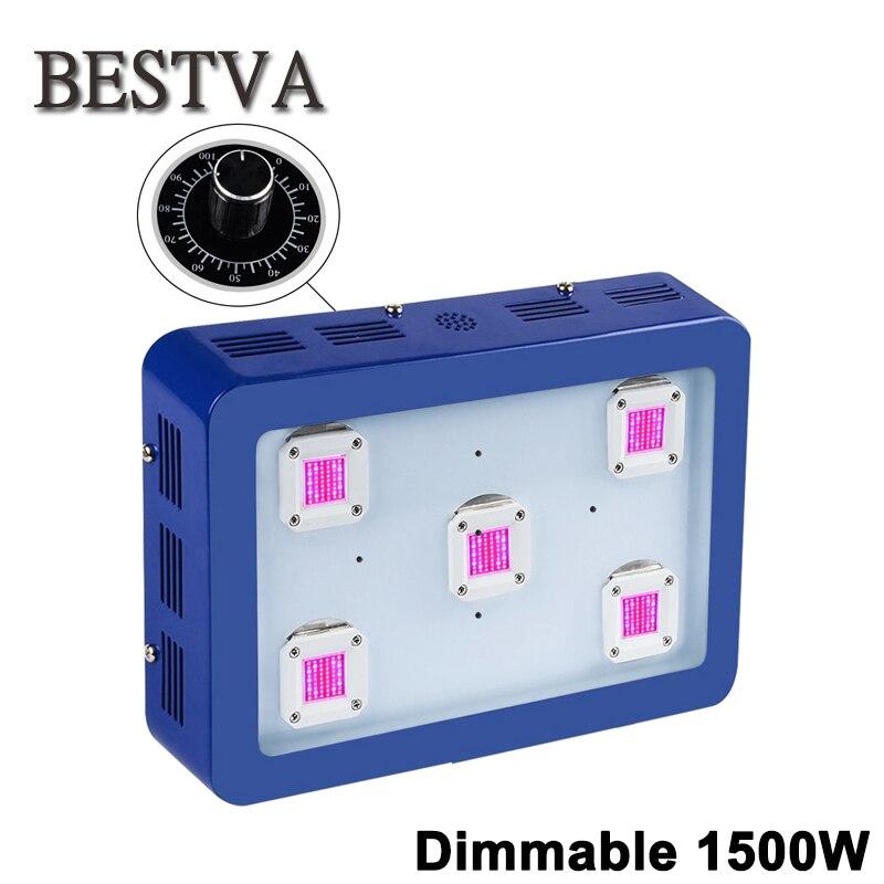 BESTVA Dimmable 1500 w LED Élèvent La Lumière à spectre complet pour plantes d'intérieur système hydroponique plantes d'intérieur Fleur médical graines intérieur