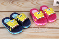 New 2016 SpongeBob Slippers Kids/Children Bathing/Beath/House Shoes Skidproof Chausson/Pantufas/Pantoufle For Boys/Girls/Enfant