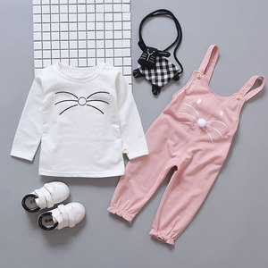 Image 3 - Spring newborn baby girls clothes sets fashion suit T shirt + pants suit baby girls outside wear  sports suit clothing sets