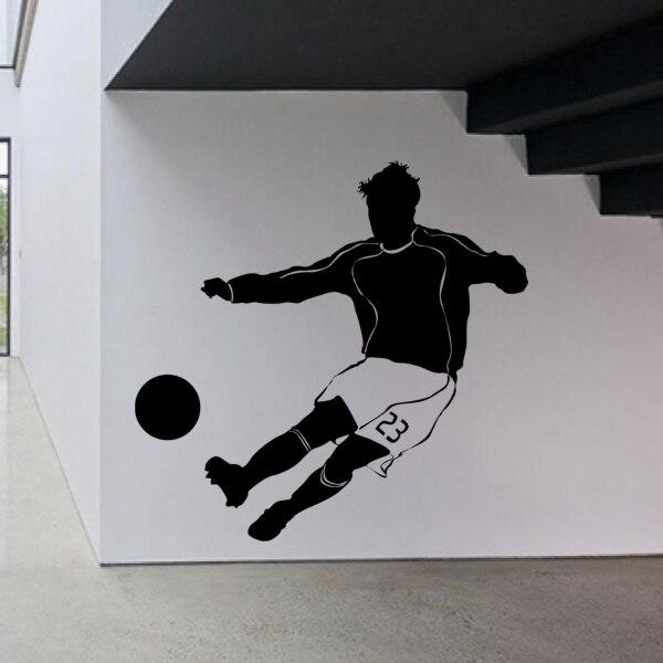 Football Soccer Star Catch The Ball Sketch Fashion Wall Sticker Bedroom Wallpaper Wall Decal Wedding Decor Room Decor