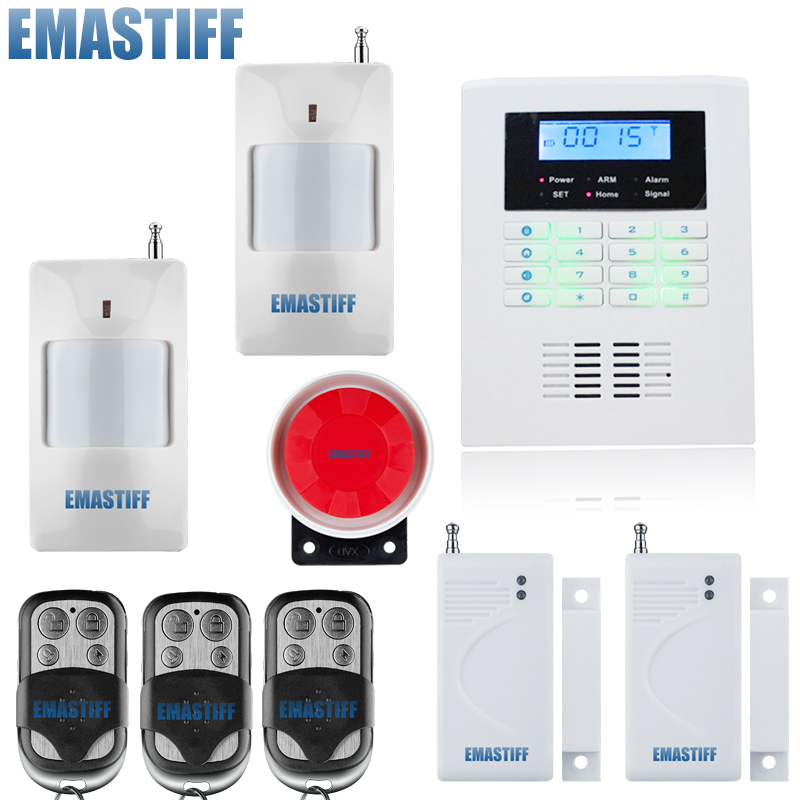 Intelligent Dual-Network GSM/PSTN Burglar Alarm system for home House villa Burglar Security LCD Keyboard Wireless alarma gsm 433mhz dual network gsm pstn sms house burglar security alarm system fire smoke detector door window sensor kit remote control