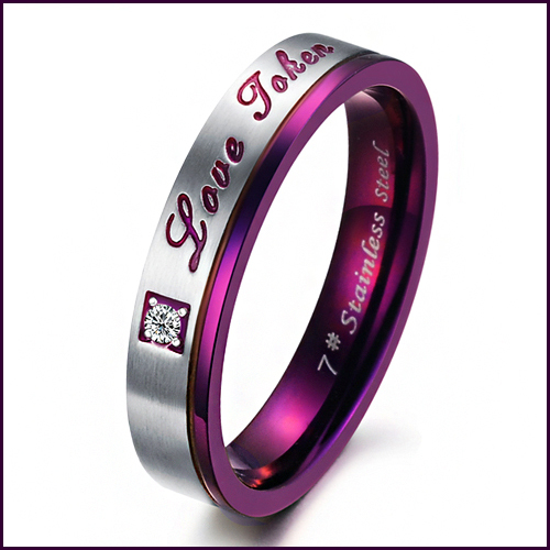 si high quality jewellery finger jewelry purple lover ring