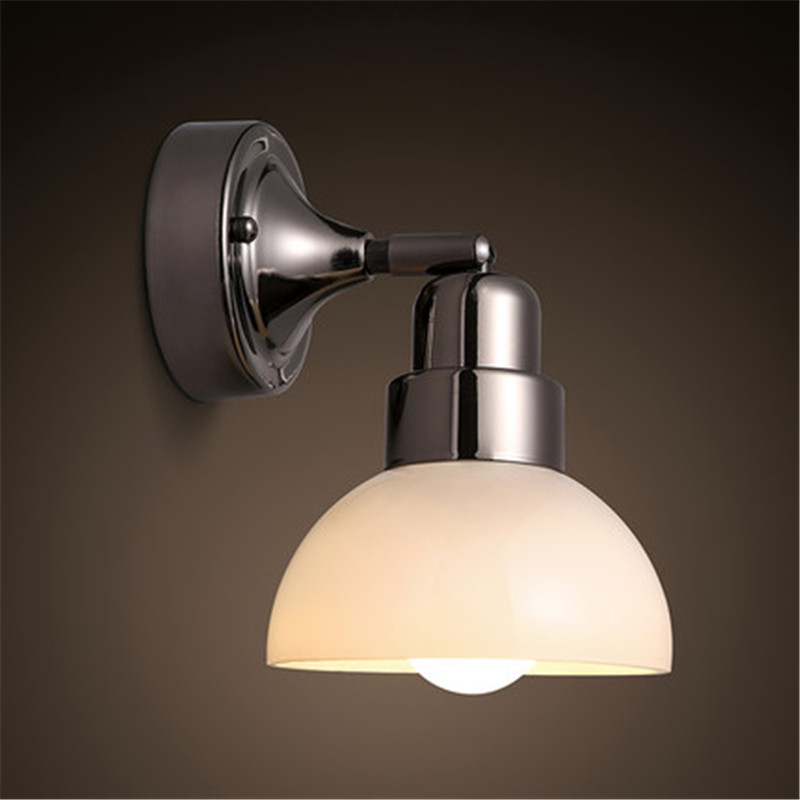 Loft Style Retro Iron Glass Wall Sconce Industrial Vintage LED Wall Light Fixtures E27 Home Bedside Wall Lamp Indoor Lighting nordic vintage loft style wall lamp glass wood rocker bedside light fixtures for alise bar cafe indoor home lighting luminaire