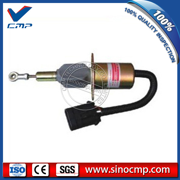 CMP 12v excavator fuel stop shutdown shutoff flameout solenoid 3932529 cmp stop solenoid valve 3935650 for cummins excavator