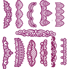 New Creative Lace Border Edge Shape Metal Cutting Dies Stencil For Scrapbooking Album Embossing Decorative DIY Handcrafts