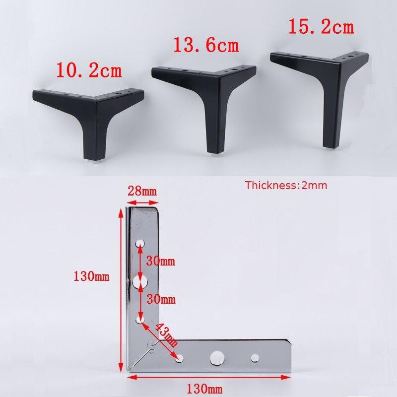 4Pcs/Lot Sofa Cupboard Cabinet Furniture Leg Legs Feet Screws Coffee Tea Bar Leg