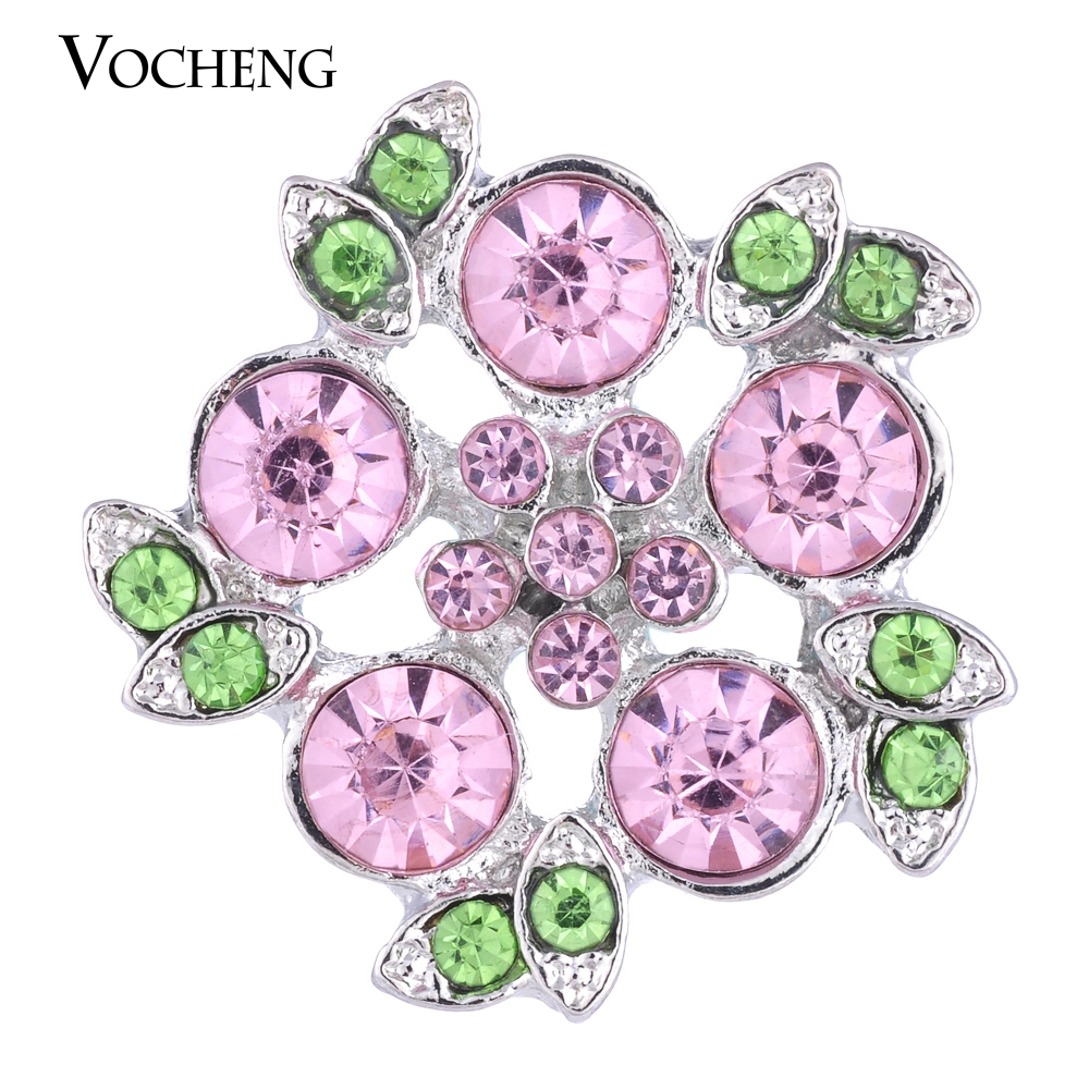 20PCSLot Wholesale Vocheng 18mm Bling Flower Ginger Snap Jewelry Vn-1041*20