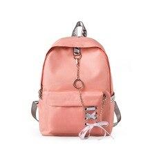 b75cc5ae3 De la lona Mochila para la universidad bolsas de la escuela mochilas para  chicas lindo Bookbags