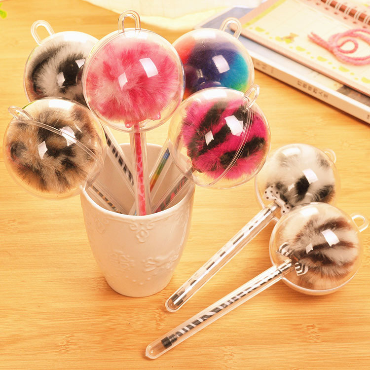 (1Pcs/Sell) Feather Ball Pens Kawaii School Supplies Stationery Roller Ball Pen Gift Funny Stationery Pens For Writing Crafts
