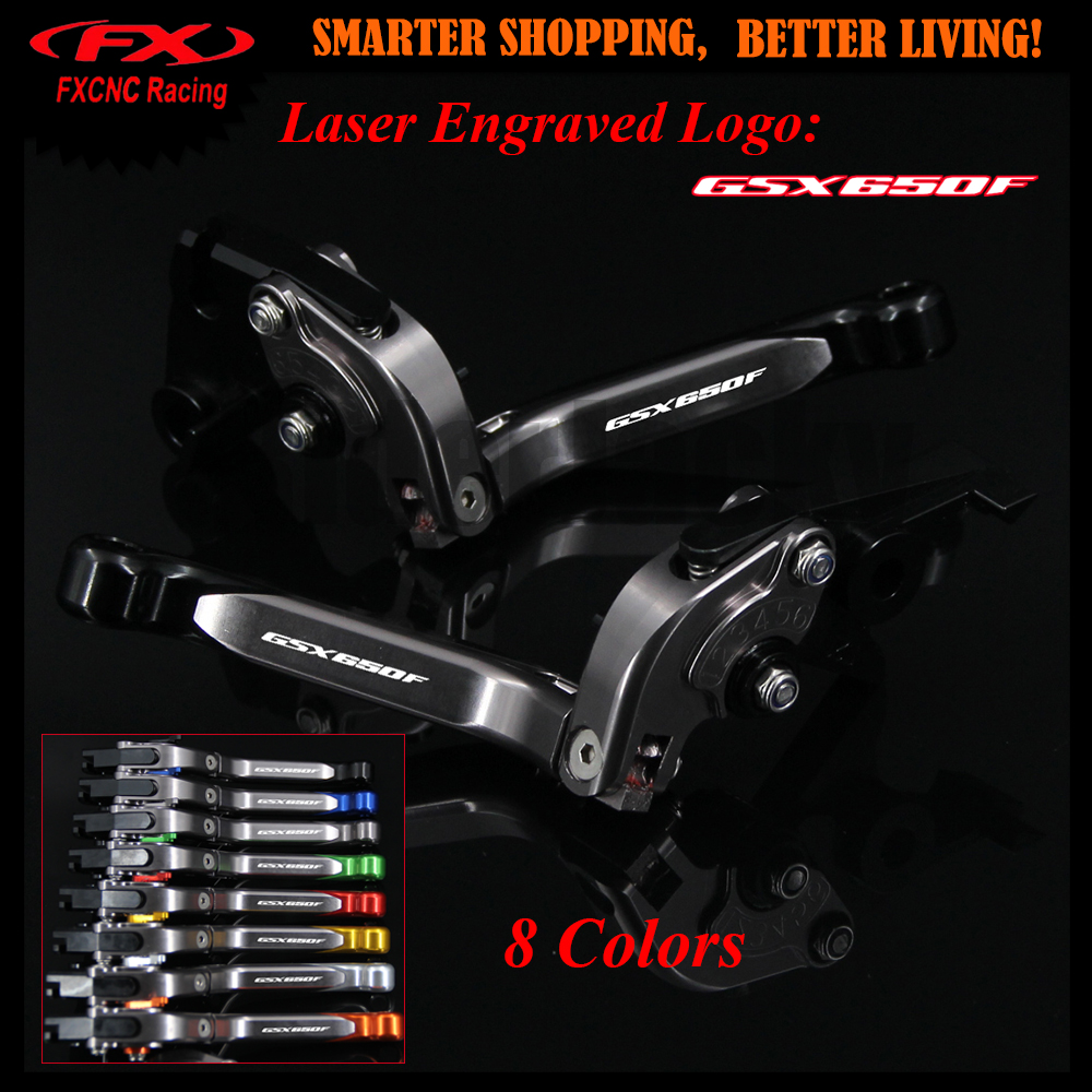 Black+Titanium For Suzuki GSX650F GSX 650F GSX650 F 2008-2015 2011 2012 2013 2014 Motorcycle CNC Adjustable Brake Clutch Levers adjustable long folding clutch brake levers for suzuki gsx 650 f gsx650f 08 09 10 11 12 13 14 15 2014 gsf 650 bandit n s 2015