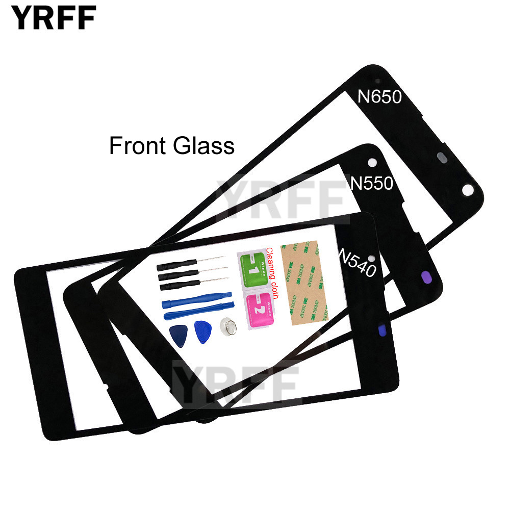For Nokia <font><b>Lumia</b></font> <font><b>540</b></font> N540 (No Touch <font><b>Screen</b></font>) Mobile Outer Glass For Nokia <font><b>Microsoft</b></font> <font><b>Lumia</b></font> 650 550 Front Glass Panel <font><b>Replacement</b></font> image