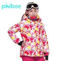 Phibee filles Ski Snowboad veste chaud respirant enfants hiver vêtements coupe-vent imperméable respirant manteau
