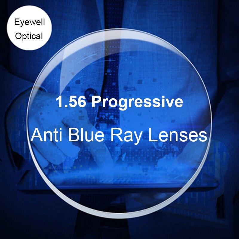 1.56 lumière bleue bloquant les lentilles progressives de forme libre numérique lentilles optiques de Prescription pour l'utilisation d'ordinateur de Protection des yeux
