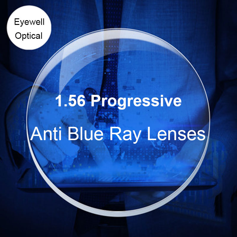 BAONONG Anti-Blue Ray Lens 1.56 Progressive Prescription Optical Lens Glasses Lens For Eyes Protection Reading Eyewear