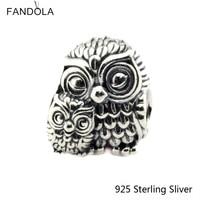 Beads Fits Pandora Bracelet Authentic 925 Sterling Silver Jewelry Charming Owls Original Fashion Charms CKK