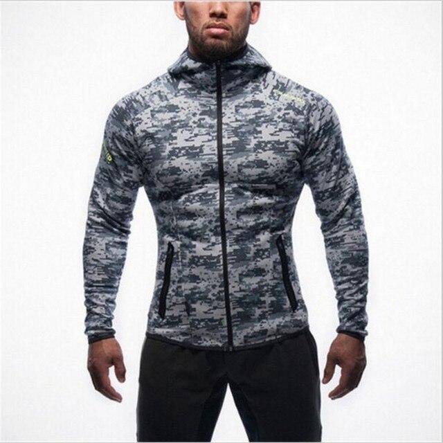 Новая мода мужские куртки толстовки аэробика тренировки clothing бренд спортивной костюм куртка с капюшоном рубашки Мужчины