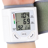 Health Care Wrist Portable Digital Automatic Blood Pressure Monitor Household Type Protect Health