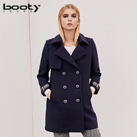 fall winter 2018 new design European and American high end double breasted women over coat fashion women cashmere wool coat