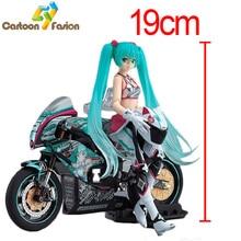 Бесплатная доставка Anime Figma 233 Hatsune Miku с рисунком действия на ПВХ с мотоциклом Коллекционная игрушечная игрушка Лучший подарок с розничной коробкой