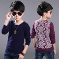 Toddler Clothes Spring Autumn Boys 2016 New Fashion Printing Flowers Decor Cotton Long Sleeve O-neck Pullovers Sweaters