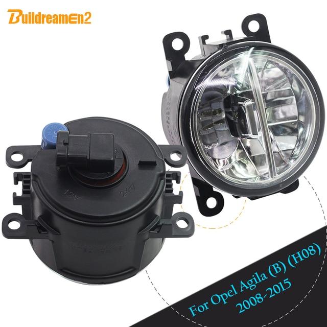 Buildreamen2 2 X Car 4000LM Front LED Bulb Fog Light DRL Daytime Running  Lamp 12V For 2008 2015 Opel Agila (B) (H08) Hatchback