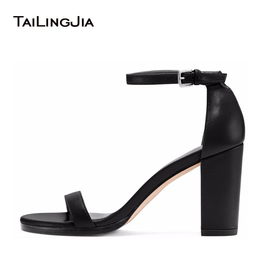 Aliexpress.com : Buy Black Velvet Block Heel Sandals For Women ...