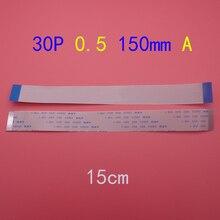 30pin FFC FPC سلك مرن سلك مسطح 0.5 مللي متر الملعب 30 دبوس طول أمامي 150 مللي متر الشريط فليكس كابل AWM 20624 80C 60 فولت VW 1