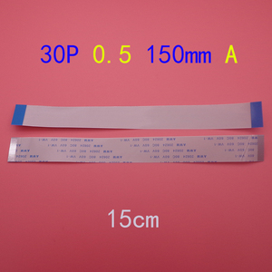 Image 1 - 30pin FFC FPC flat line flexible cable 0.5mm pitch 30 pin A Forward Length 150mm Ribbon Flex Cable AWM 20624 80C 60V VW 1