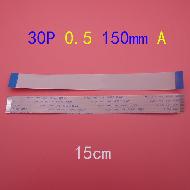 30pin FFC FPC flat line flexible cable 0.5mm pitch 30 pin A Forward Length 150mm Ribbon Flex Cable AWM 20624 80C 60V VW 1