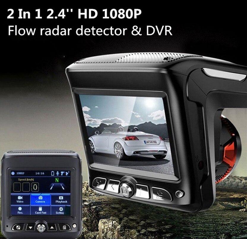 Détecteur de Radar et caméra de tableau de bord de voiture deux en un Combo 1008P détecteur de voiture DVR caméra enregistreur vidéo Dash Cam Radar Laser vitesse 5
